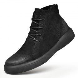 Men's Fashion High Top Leather Casual Shoes -