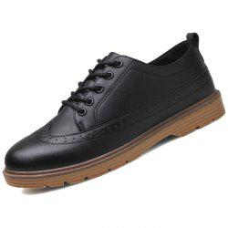 Men Oxford Stylish Solid Color Shoes -