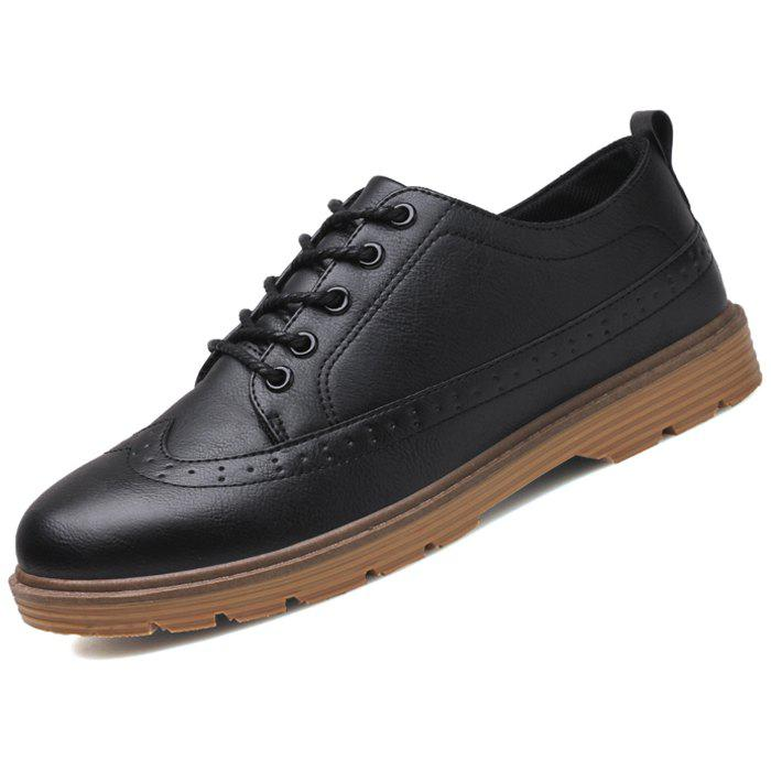 Trendy Men Oxford Stylish Solid Color Shoes