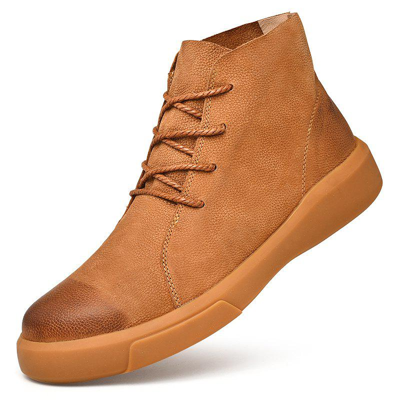 Outfit Men's Fashion High Top Leather Casual Shoes