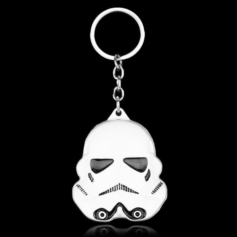 Store Zine Alloy Electroplating White Soldier Mask Key Ring for Decoration
