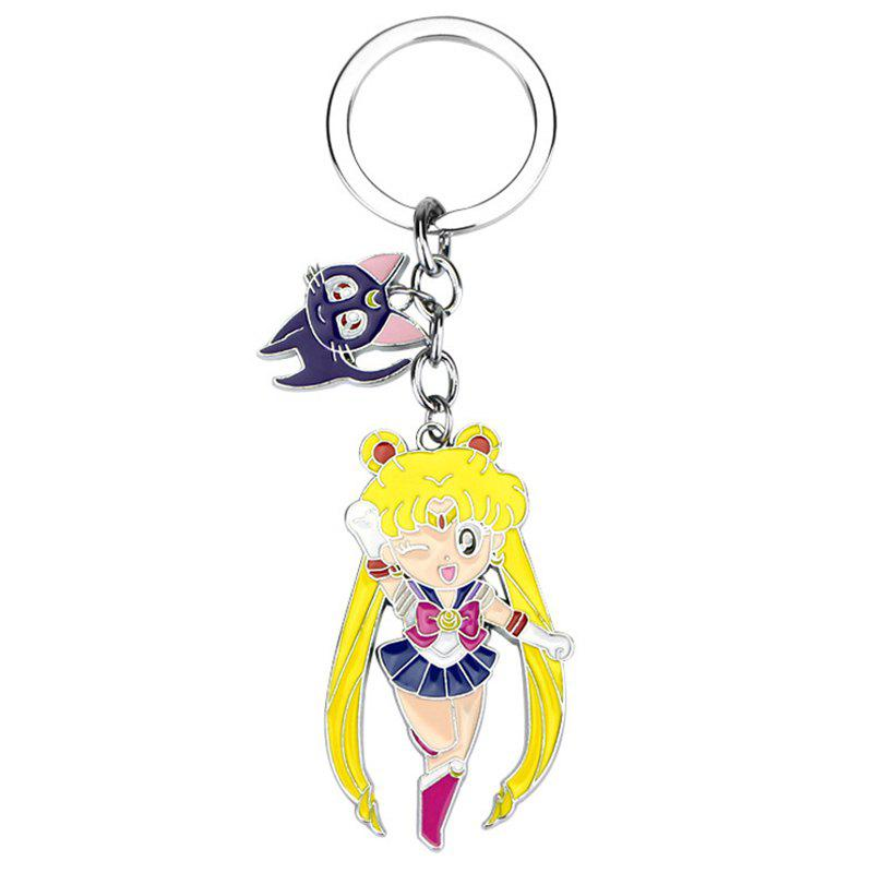 Online Aluminium Alloy Electroplating Cartoon Key Ring for Decoration