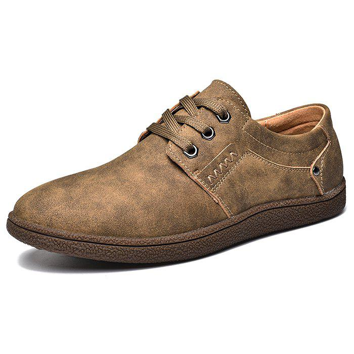 Outfit Men Comfortable Flat Shoes Lace-up Casual Leather Shoes