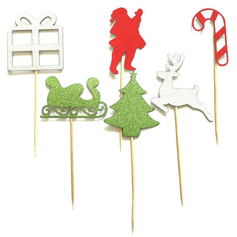 Online Christmas Cake Decoration for Baking 6pcs