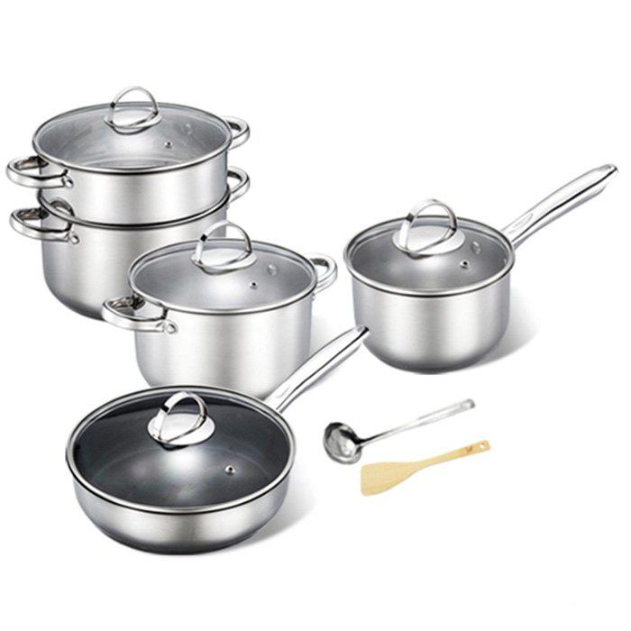 Online Durable Non-defrmation Stainless Steel Cookware Suit