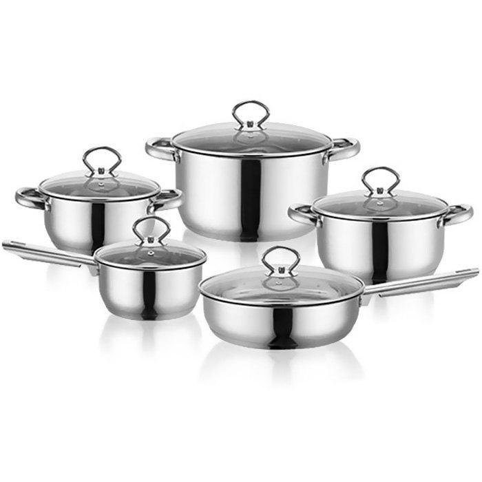 Unique Creative and Personality Stainless Steel Pot Set