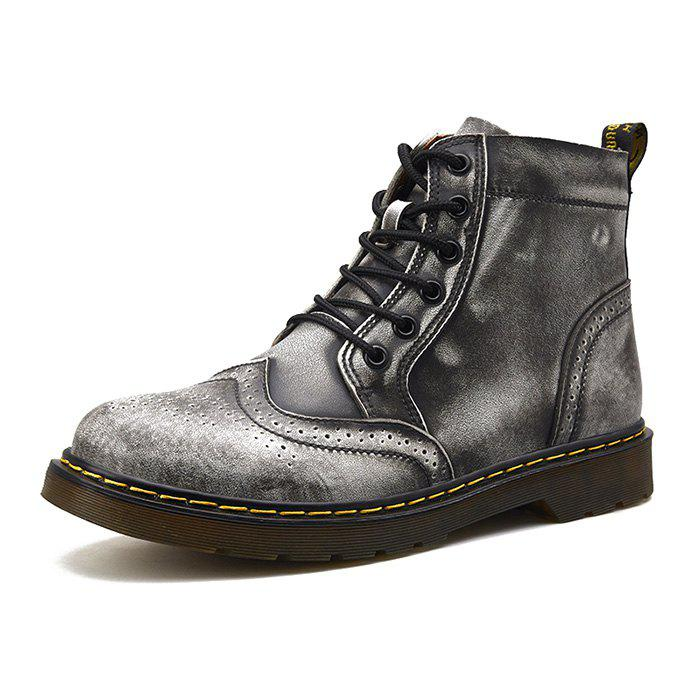 Sale Men Comfortable Boots Stylish High-top Lace-up Durable
