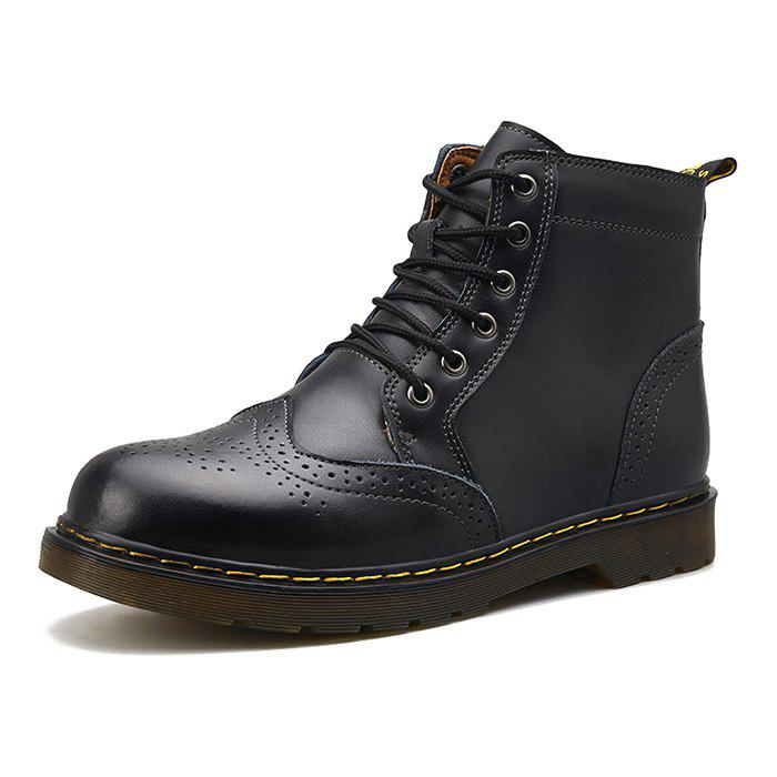Discount Men Comfortable Boots Stylish High-top Lace-up Durable