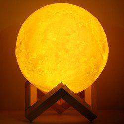 3D Simulation Moon Light with Three Colors -