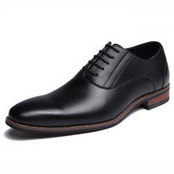 Man Formal Shoes Pointed Business Lace Up -