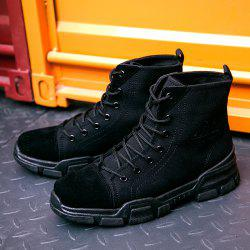 Men High-top Boots Comfortable Canvas Lace-up Durable -