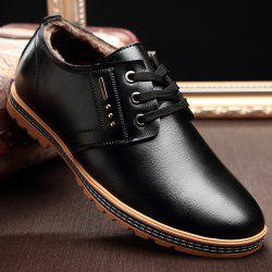 Man Casual Leather Shoes Warm Soft Wearable -