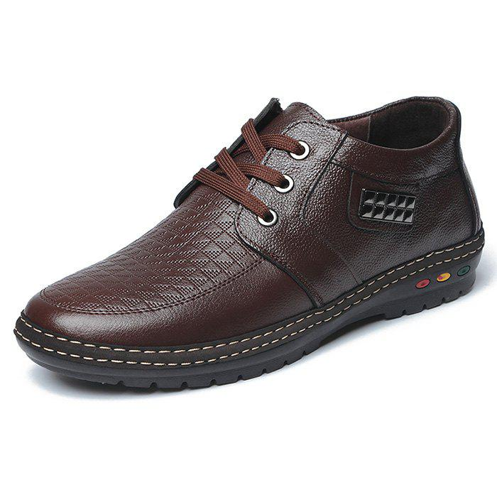 New Increase Shoes Men Casual Leather Hidden Heel