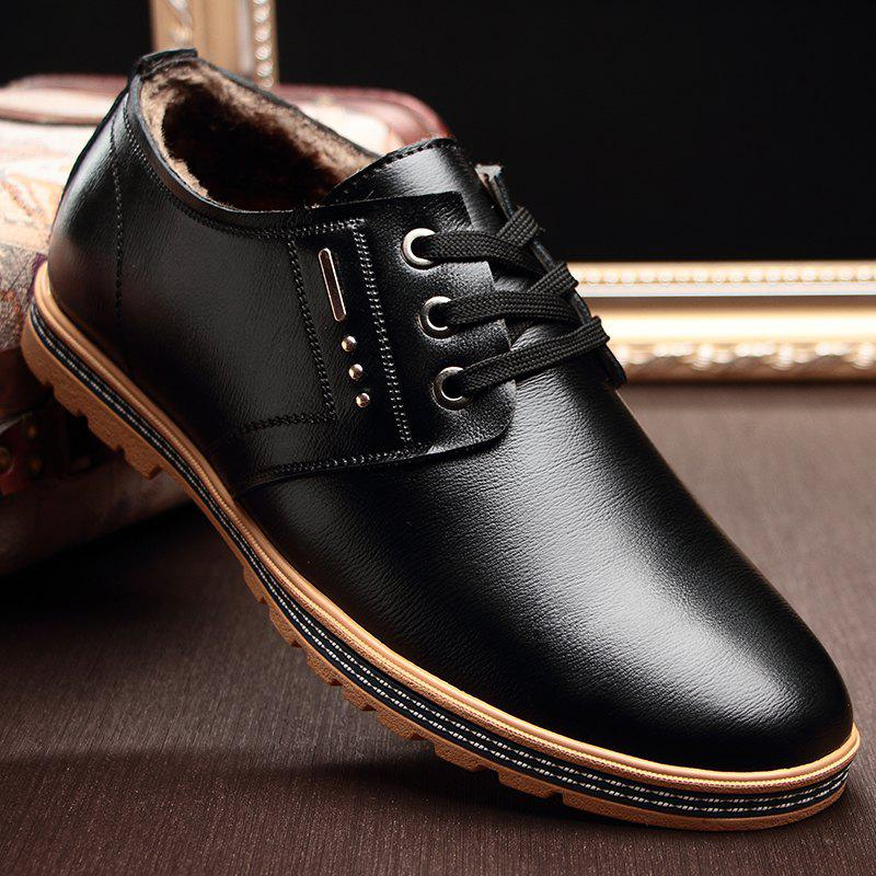 Shops Man Casual Leather Shoes Warm Soft Wearable