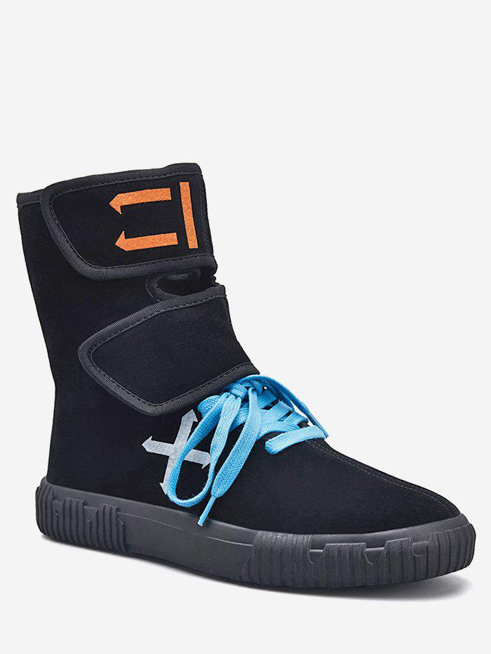 Buy Hook and Loop Strap Super High Top Sneakers