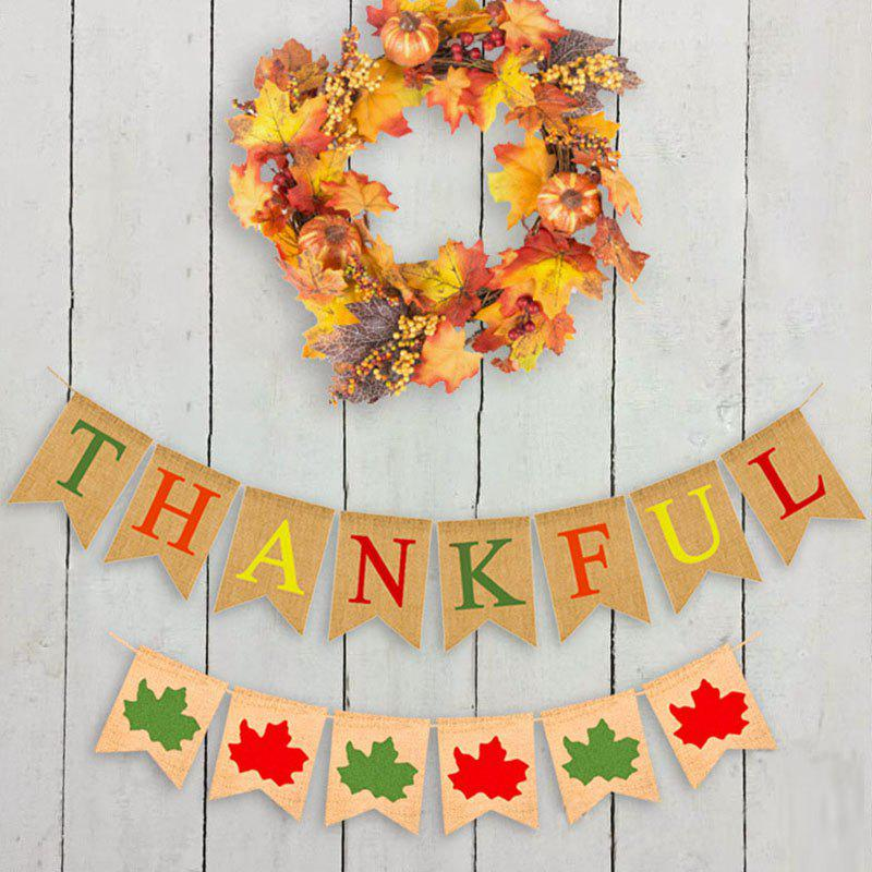 Affordable Thanksgiving Day Linen Banner