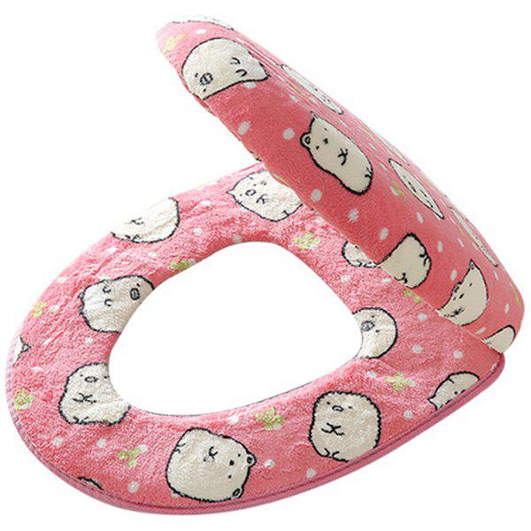Fashion Thicken Cartoon Universal Twinset Toilet Seat Cover