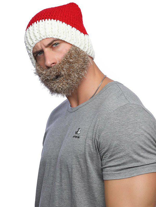 Christmas Knitted Wool Hat with Beard