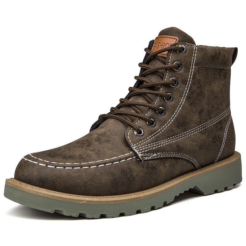 Trendy Men's High Top Boots Fashion Casual Warm