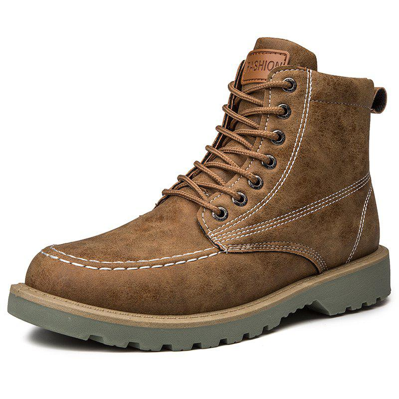 Chic Men's High Top Boots Fashion Casual Warm