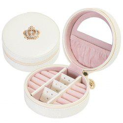 Portable Simple PU Jewelry Box for Woman -