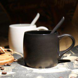 Ceramics Mug with Scoop Creative Water Coffee Cup for Cafe and Home Use -