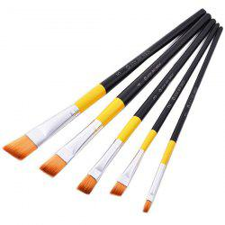 Clam Shell Packing Nylon Paint Brush for Oil Painting 5pcs -