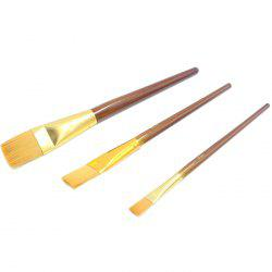 Wooden Student Paint Brush for Painting 3pcs -
