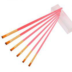 Candy Color Paint Brush for Painting 6pcs -