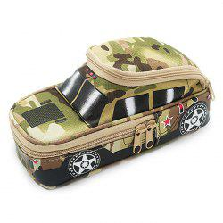 Creative Camouflage Tank With Password Lock Large Capacity Stationery Box For Student -