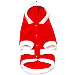 267 Novelty Day Buckle Coral Cashmere Dog Christmas Dress Two Feet Hitedi Christmas Dog Clothes For Teddy Christmas Dog Clothes -