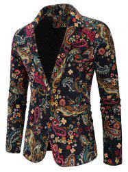 Men's Blazer Fashion Small Floral Print -