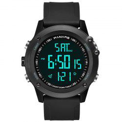 PANARS Fashion Sport Electronic Watch Water Resistance Creative Time of  Two Places -