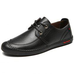 Men's Leather Casual Shoes Texture Fashion -