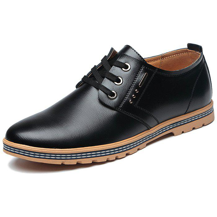 Chic Men's Leather Casual Shoes Business Cotton