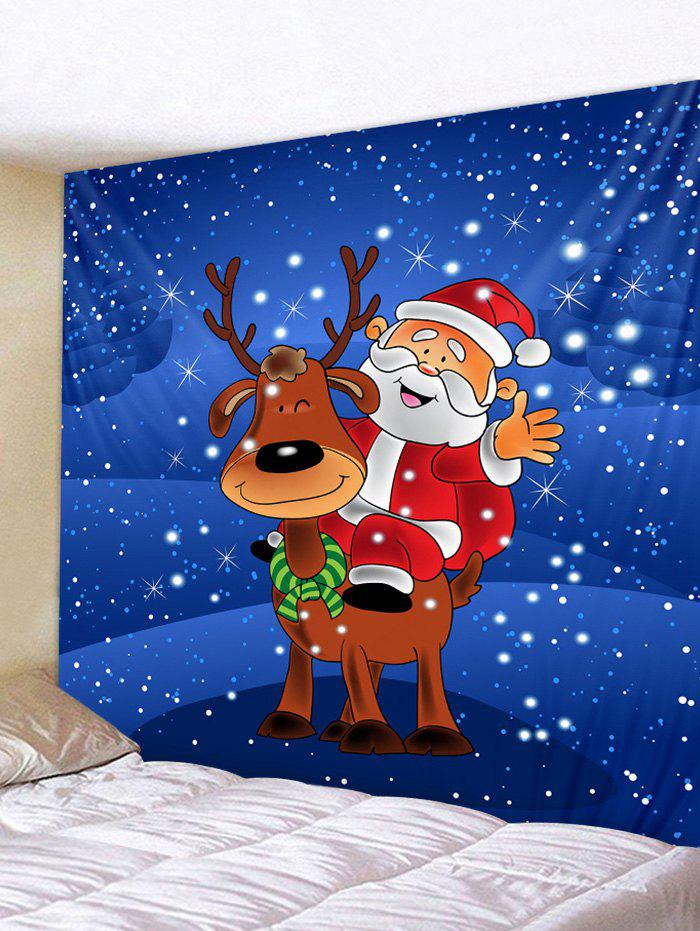 Cheap Father Christmas Elk Print Tapestry Art Decoration