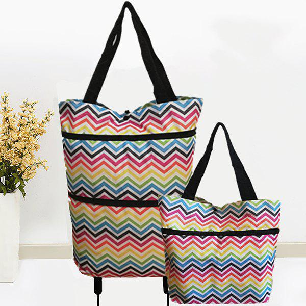 Outfits Colorful Fashion Expansion Folding Supermarket Shopping Wheel Bag