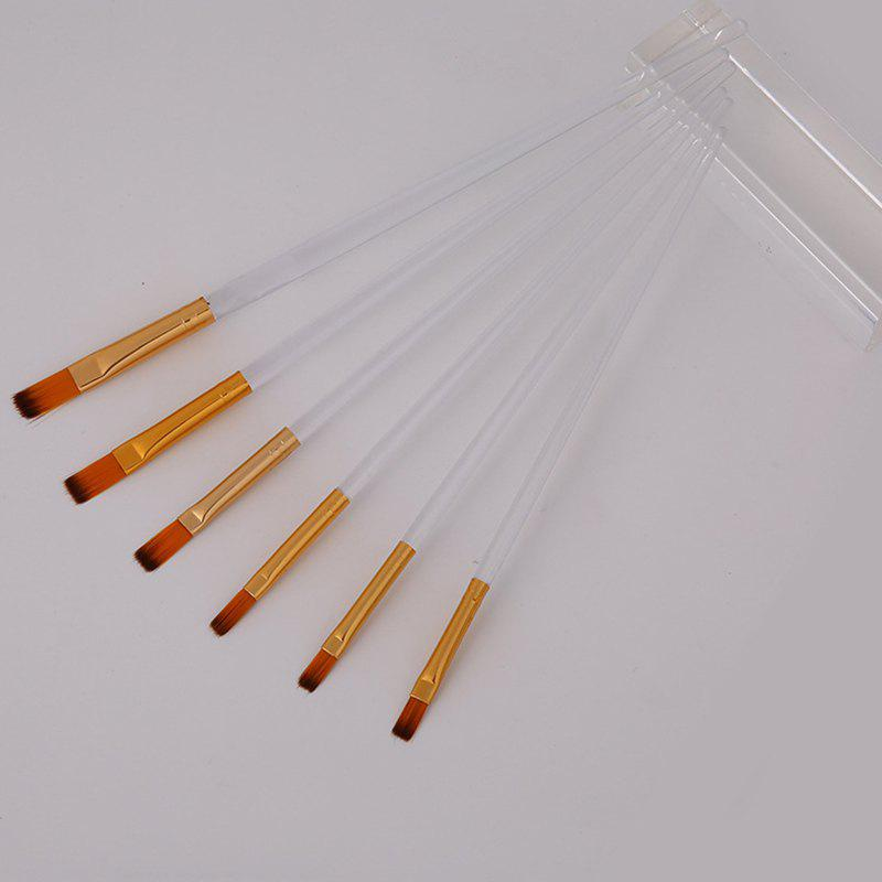Trendy Candy Color Paint Brush for Painting 6pcs