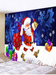 Father Christmas Snowflake Gift Print Tapestry Art Decoration -