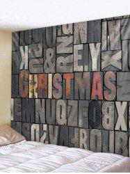 Christmas Letters Print Tapestry Wall Hanging Decoration -