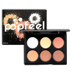 POPFEEL 6 Color Eyeshadow Tray -