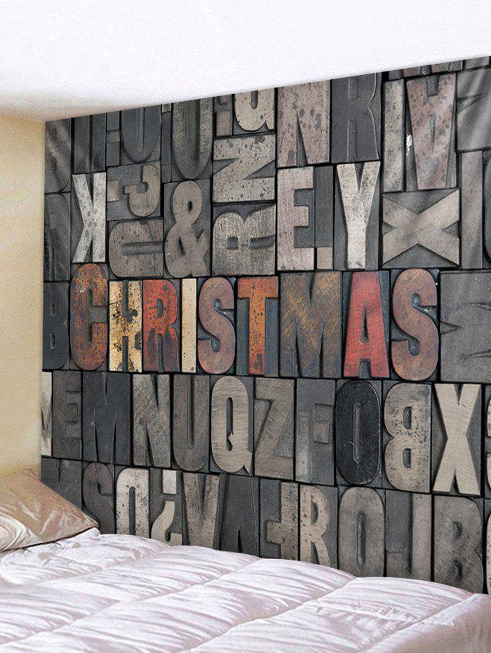 Hot Christmas Letters Print Tapestry Wall Hanging Decoration