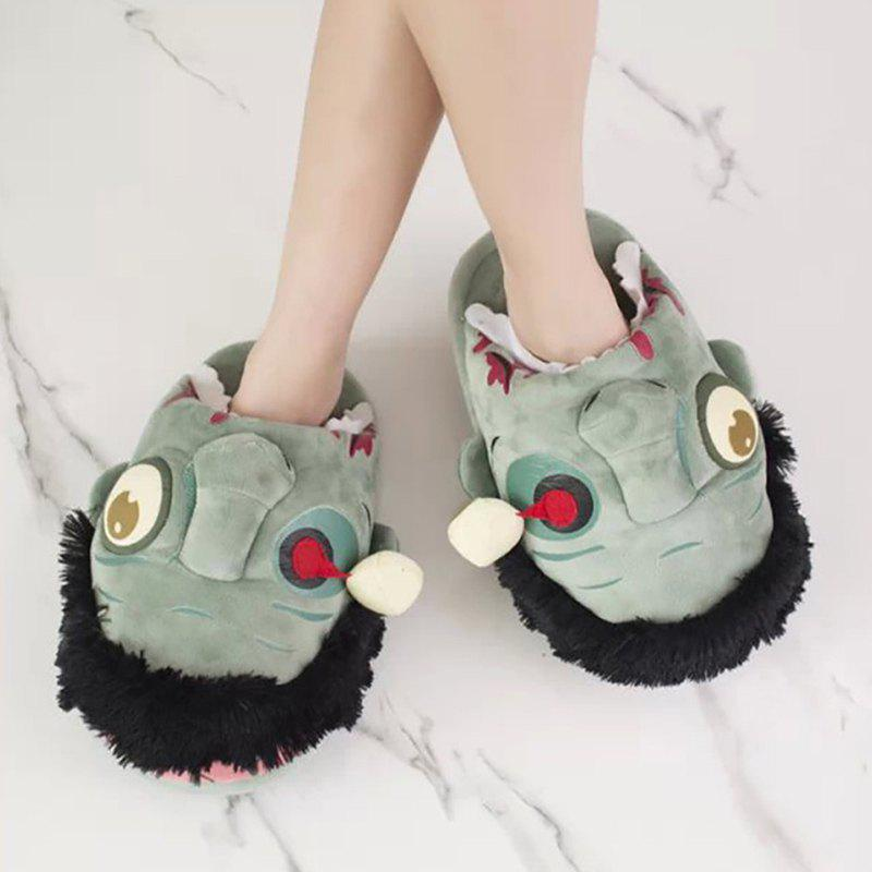 Discount Plush Cartoon Home Cotton Slippers for Man