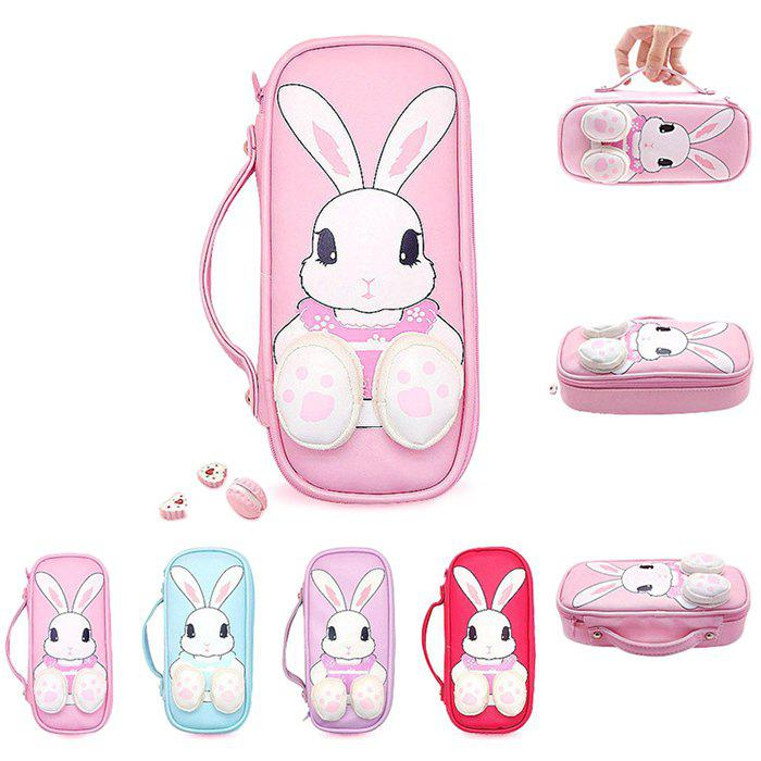 Discount 9866 Creative KoKo Rabbit Pen Bag Large Capacity Storage Multi-function Stationery Pencil Case