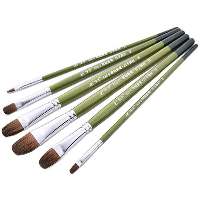 Affordable Good Quality Wood Handle Paintbrush for Oil Painting