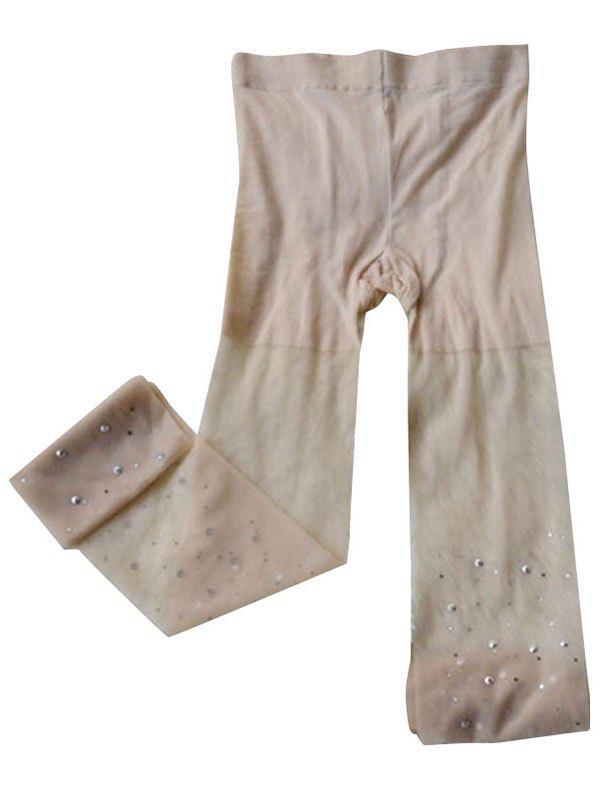 Online Fashion Crystal Stockings Skin Color
