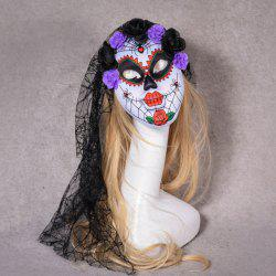 Halloween Masquerade Party Head Horror Clown Mask with Flower -