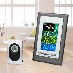 Color Screen Multi-function Electronic Clock RF Wireless Weather Forecast Clock Calendar -