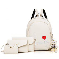 Pure Fashion Letter Embroidery Youth Trend Wild Comfortable Ladies Backpack Travel Package -