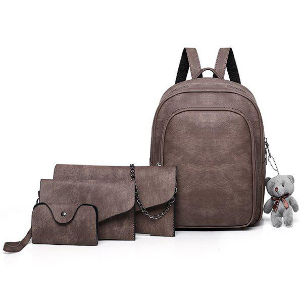 Discount Casual Fashion Solid Color Atmosphere Elegant And Comfortable Youth Tide Ladies Backpack Travel Package